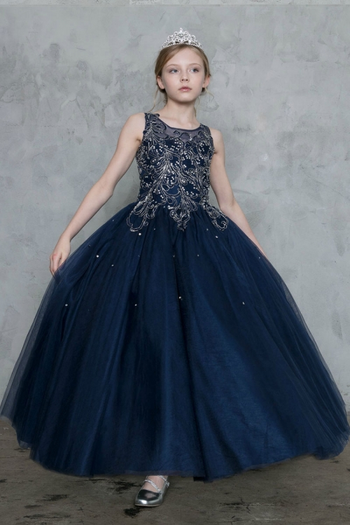 Navy Pageant Dresses