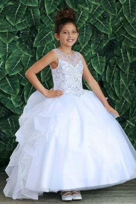 18c5be7e8b7 Girls Dress Style KY218 - Beaded Ball Gown with Cascading Back In Choice of  Color