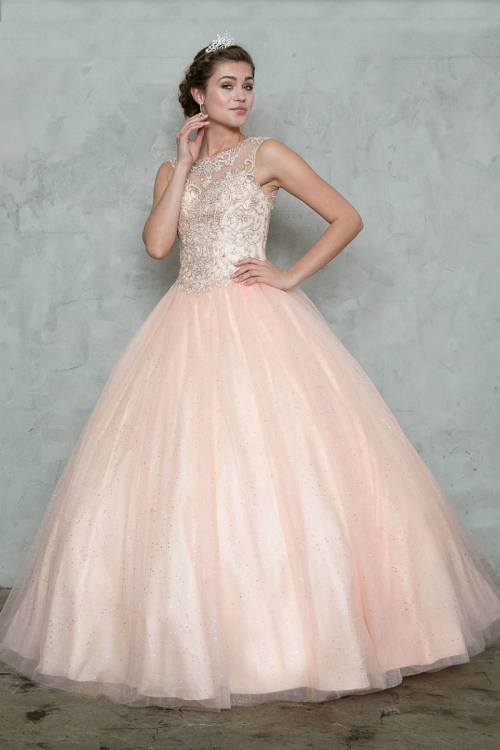 Caky70001x Bl Teen Young Adult Dress Style Ky70001x Blush