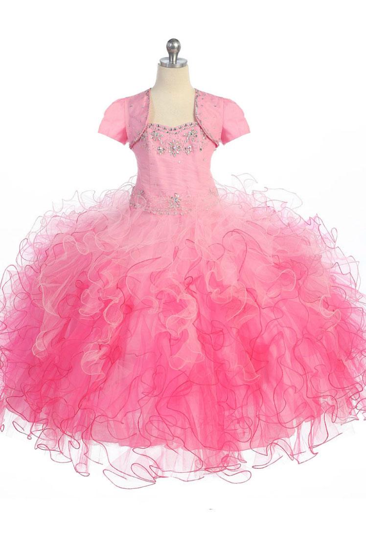 Fuchsia Flower Girl Dresses
