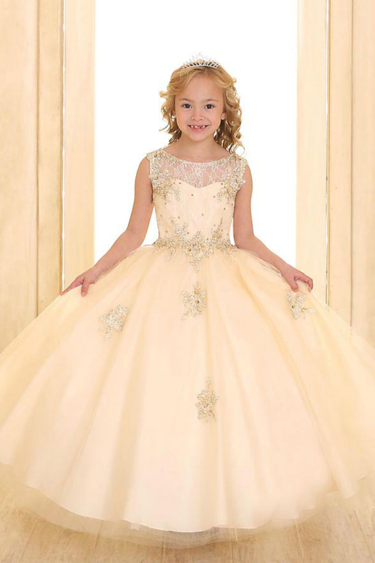 Ca Sy117ch Girls Dress Style Sy117 Champagne