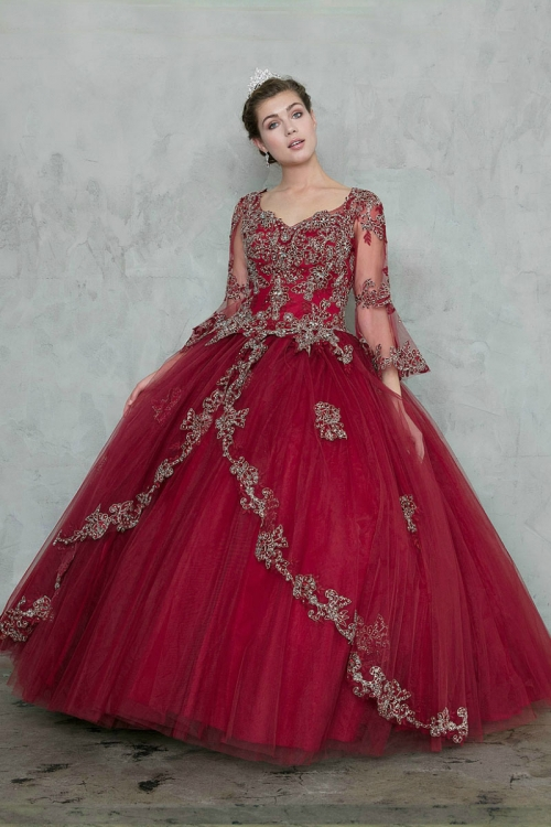 649010f63217 CA SYL17011BUR - Teen-Young Adult Dress Style SYL17011 - BURGUNDY - Burgundy  and Wines - Flower Girl Dresses - Flower Girl Dress For Less
