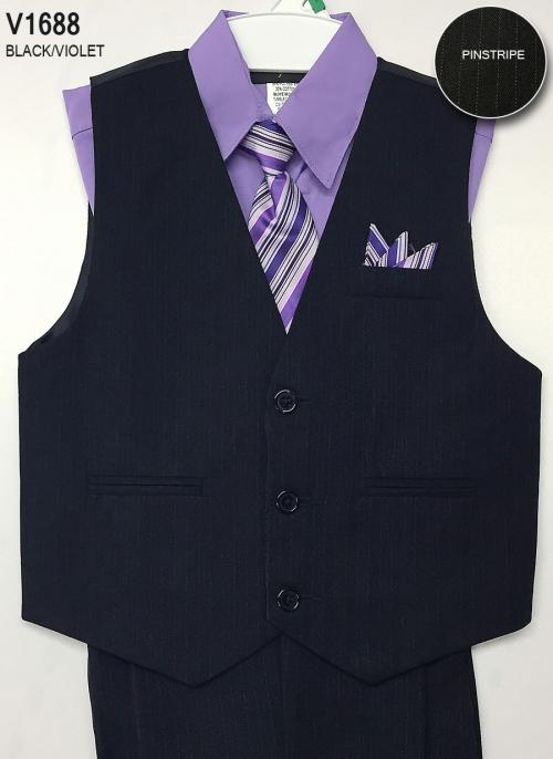 8d4ffdf97 CA V1688VIO - Boys Vest Set Style V1688- VIOLET Shirt with BLACK ...