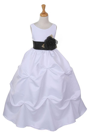 Cc1190wb girls dress style 1190 choice of white or ivory dress girls dress style 1190 choice of white or ivory dress with black sash and flower mightylinksfo