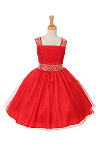 Deep Red - Flower Girl Dresses - Flower Girl Dress For Less