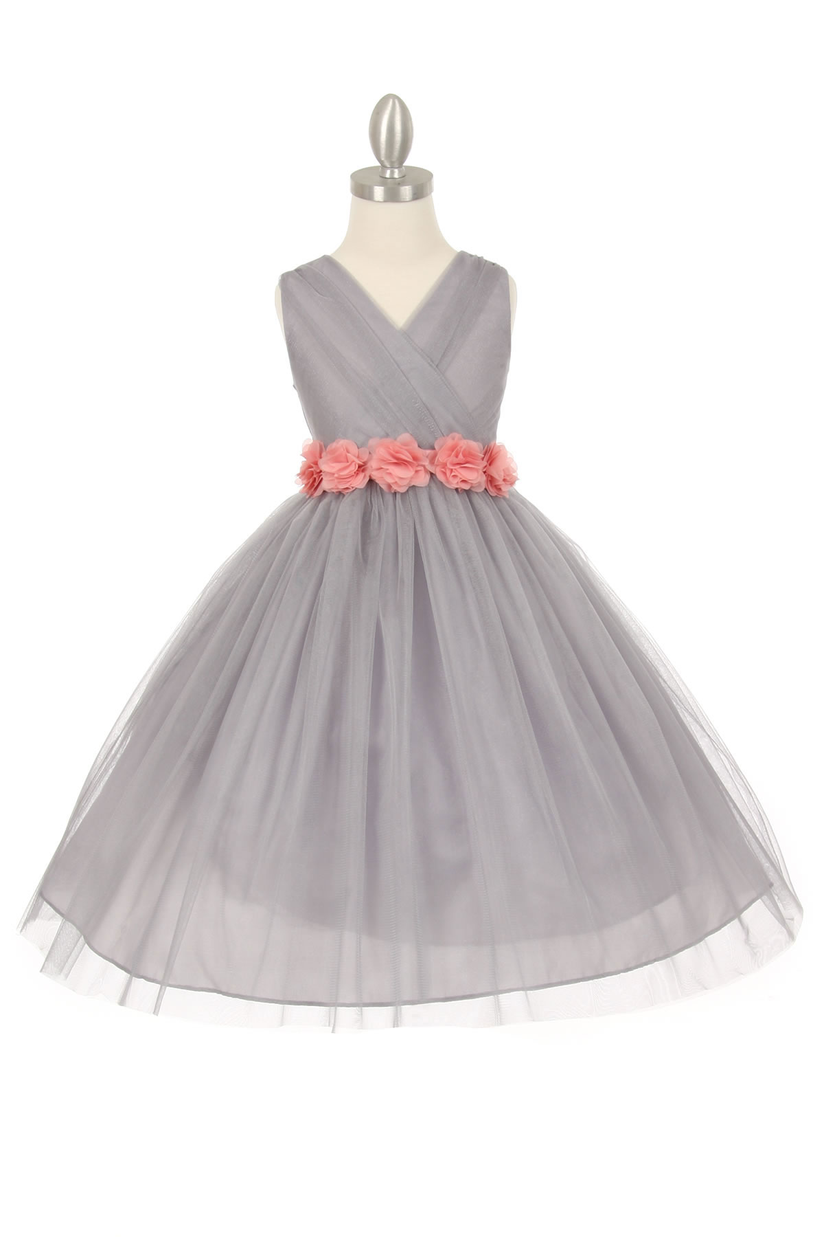 CC 1220SVDR Girls Dress Style 1220 SILVER Dress with
