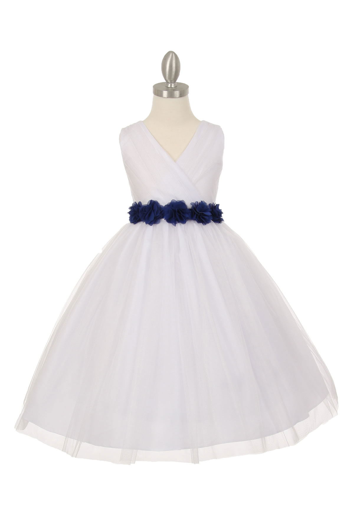 CC 1220WHRY Girls Dress Style 1220 WHITE Dress with 14