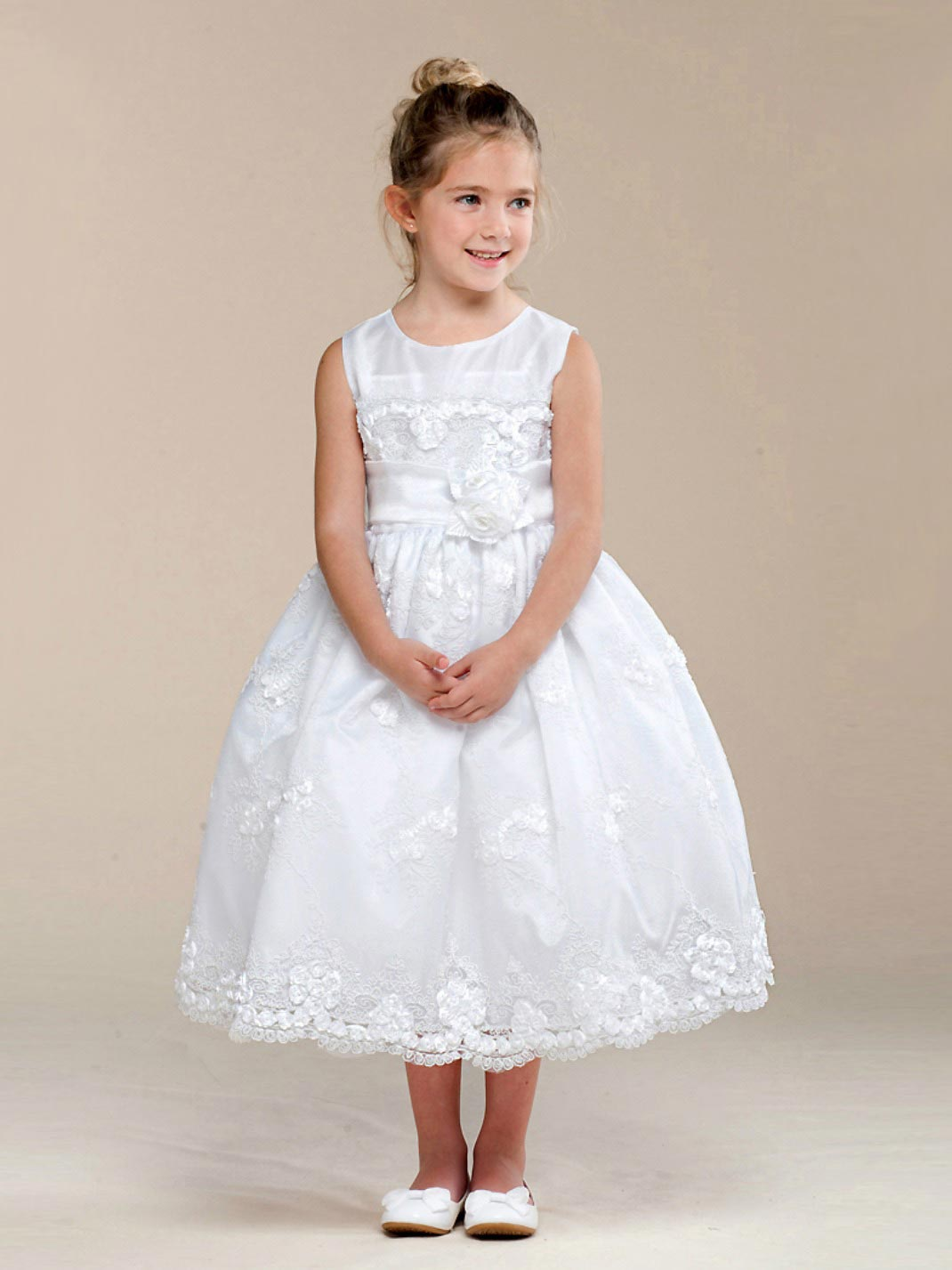Ck 321w Girls Dress Style 321 Sleeveless Embroidered