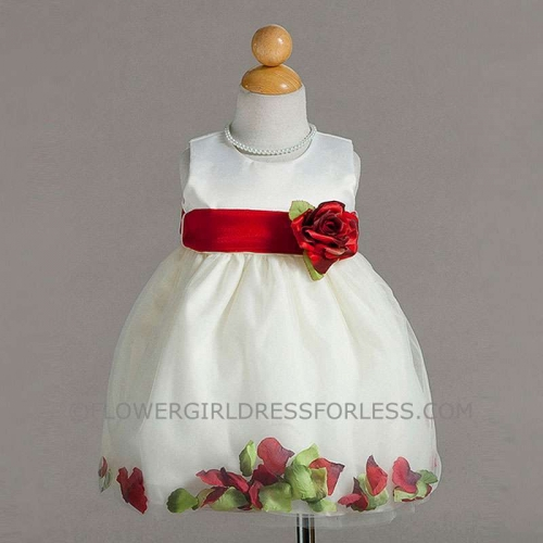 dae52f32535 CK BC596IVR - Flower Girl Dress Style BC596- Satin and Tulle Petal Dress in  Choice of Color - Burgundy and Wines - Flower Girl Dresses - Flower Girl  Dress ...