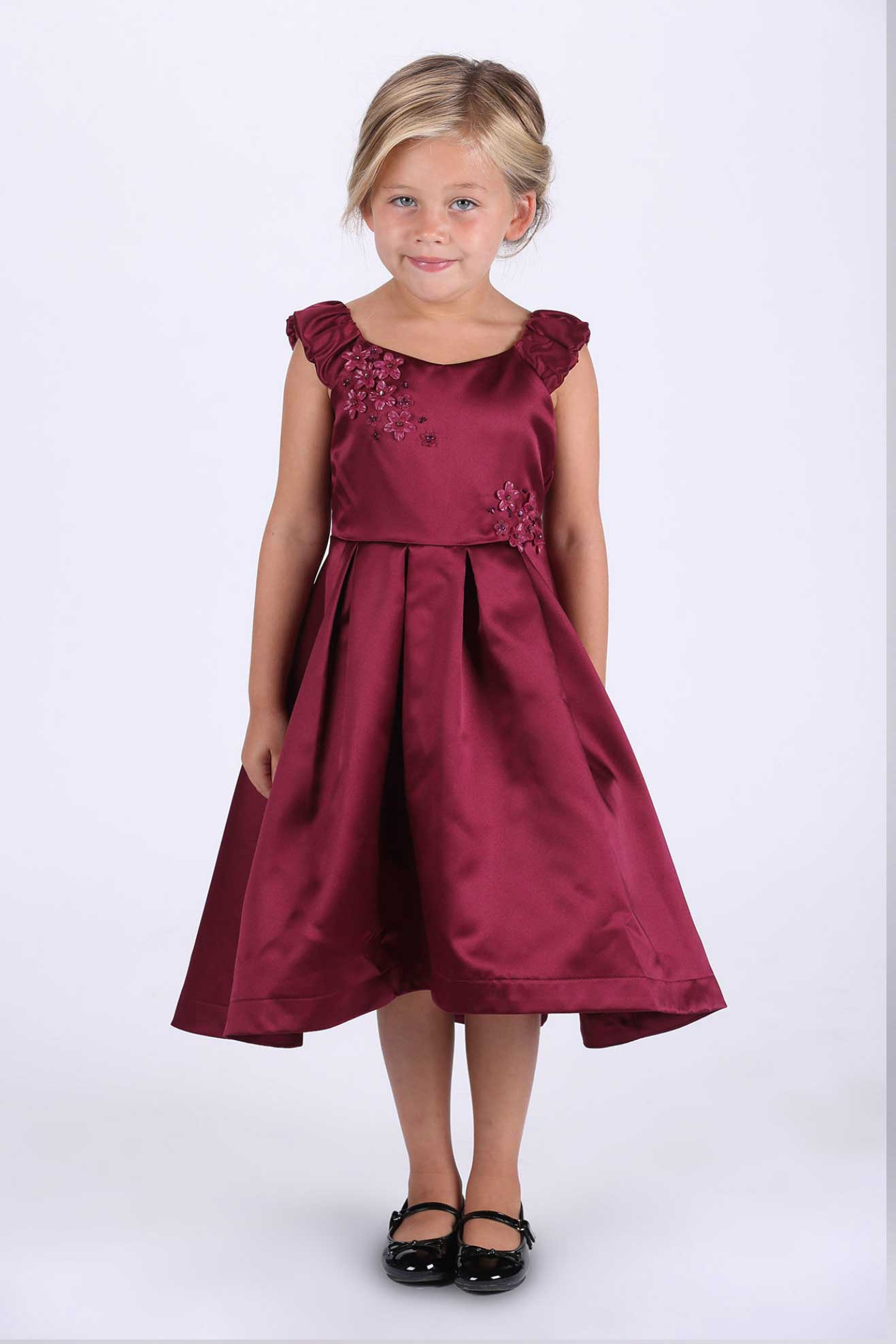 ic9469bur girls dress style 9469 isobella and chloe