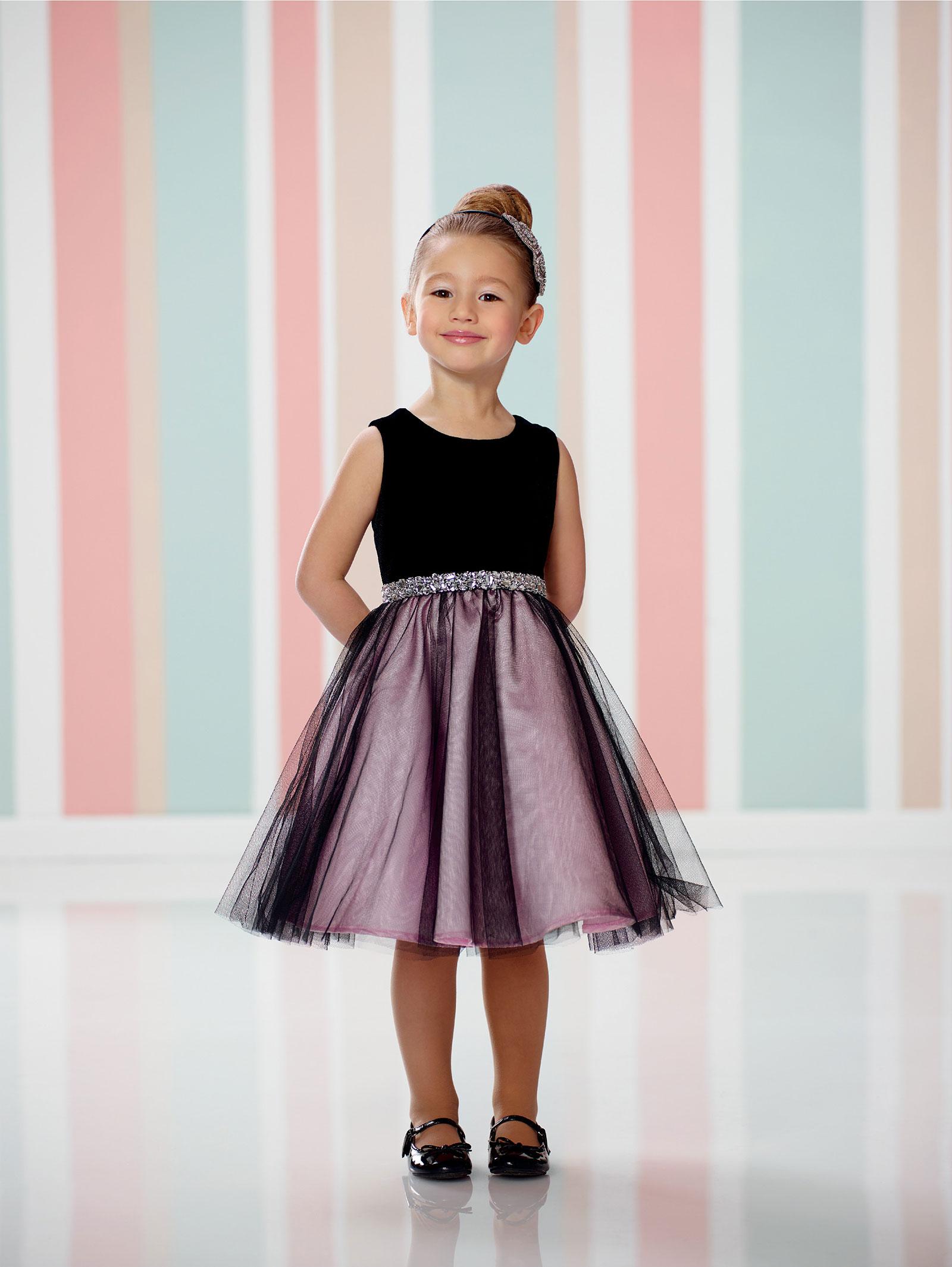 JC BKPK Joan Calabrese Style Velvet Tulle Dress with Hand Be