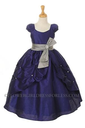 Kk 2044ry Girls Dress Style 2044 Royal Blue Dress With