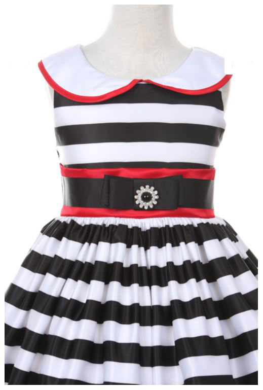 Kk2059bkr girls dress style 2059 black red sleeveless satin kk2059bkr girls dress style 2059 black red sleeveless satin striped dress with sailor collar floral print and polka dots flower girl dresses mightylinksfo