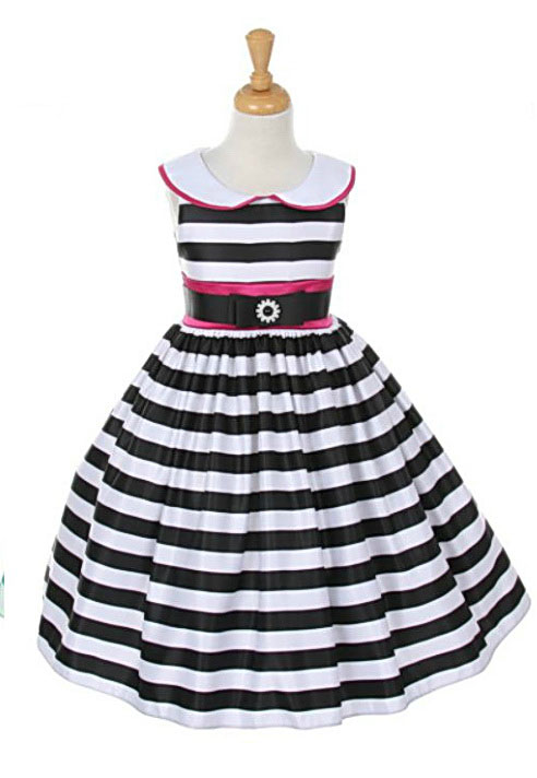 Kk2059bkr girls dress style 2059 black red sleeveless satin girls dress style 2059 black red sleeveless satin striped dress with sailor collar mightylinksfo