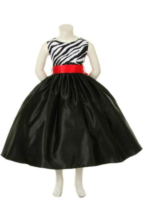 Kk5991r girl dress style 5991 black red sleeveless satin zebra girl dress style 5991 black red sleeveless satin zebra printed dress mightylinksfo