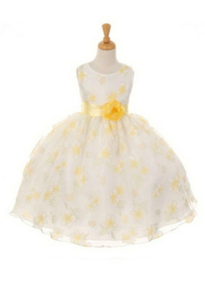 Yellows flower girl dresses flower girl dress for less girls dress style 6339 yellow sleeveless organza burnout dress mightylinksfo