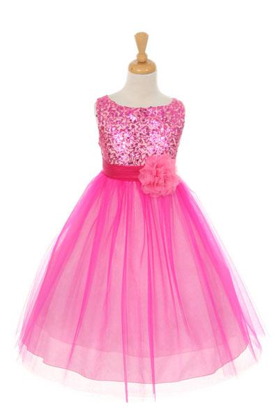 Kk 6357fus Girls Dress Style 6357 Sleeveless Tulle
