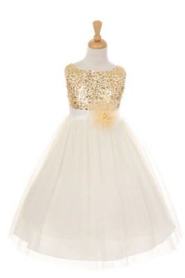 S Dress Style 6357 Sleeveless Tulle With Sequin Adorned Bodice In Choice Of Color
