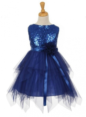 f3124dbcc59 Girls Dress Style 6370 - Sleeveless Tulle Dress with Sequin Bodice in  Choice of Color