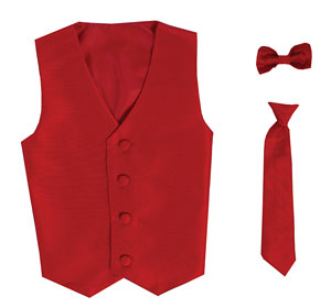 L 735 740r Boys Vest Style 735 740 Red Choice Of Clip