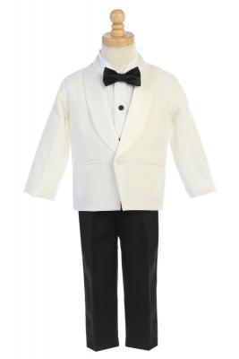 9e80570491 Boys Tuxedo Style 7580 - One Button Tuxedo with Clip-On Bowtie in Choice of