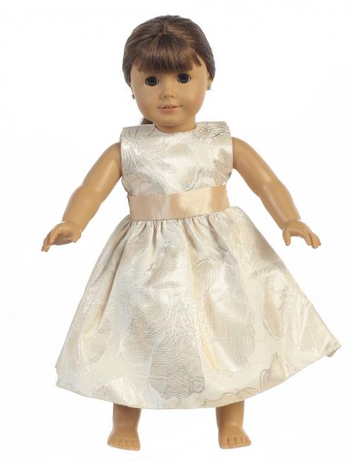 L_C984GD_DOLL - Doll Dress Style C984_DOLL - Floral Jacquard Dress ...