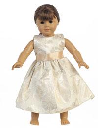 Doll Dress Style C984_doll - Floral Jacquard Dress Doll Dress - $19.99
