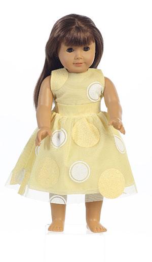 Doll Dress Style M680_doll- Glittered Polka Dot Doll Dress In Choice