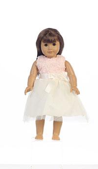 Doll Dress Style M684_doll- Peach Chiffon Tulle Doll Dress