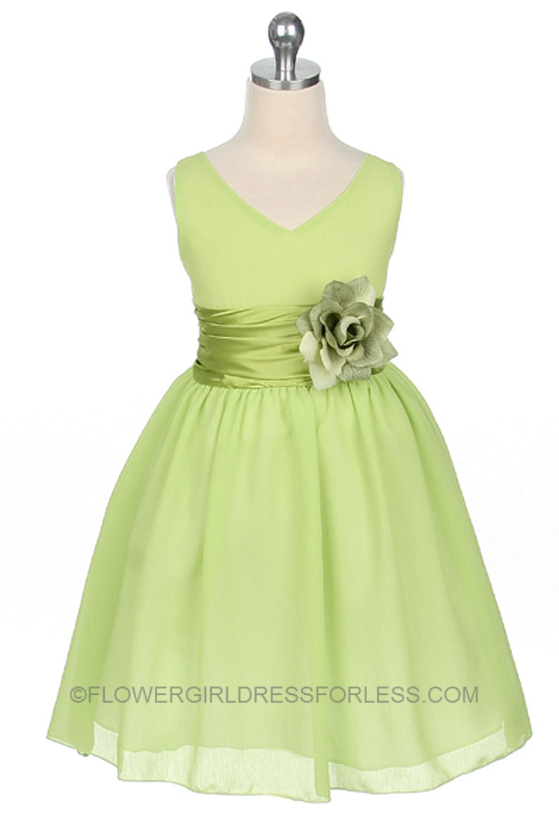 Green flower girl dresses rufana fana green flower girl dresses mightylinksfo