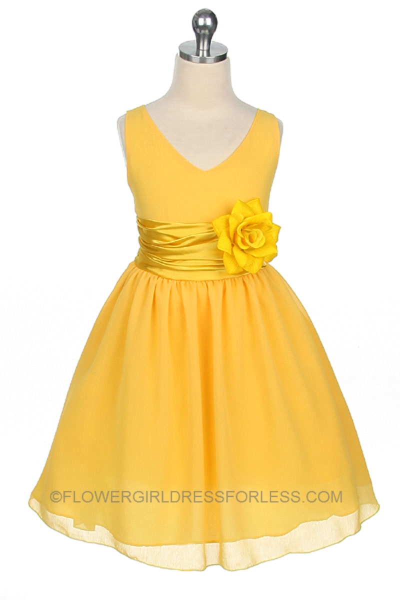 With Black and white flower girl yellow dress consider, that
