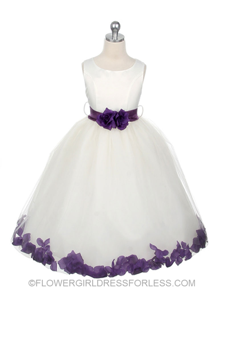 Mb152pur Flower Girl Dress Style 152 Choice Of White Or Ivory