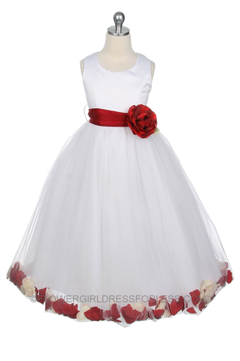 Mb152r Flower Girl Dress Style 152 Choice Of White Or Ivory Dress
