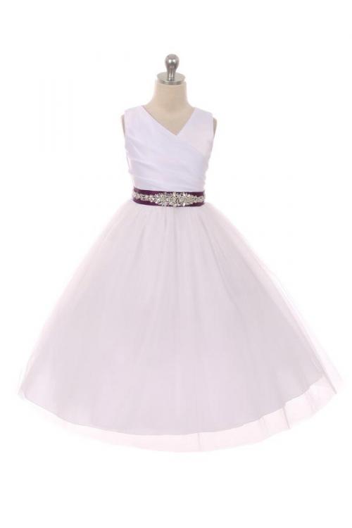 Mb276cbpur Flower Girl Dress Style 276cb White Or Ivory Dress