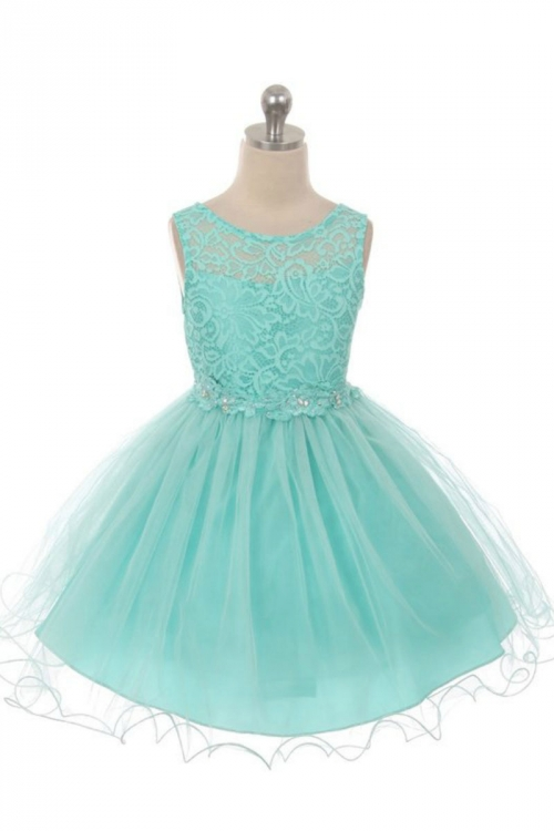0d7663bea2c MB 375TB - Girls Dress Style 375 - TIFFANY BLUE Lace Short Dress ...