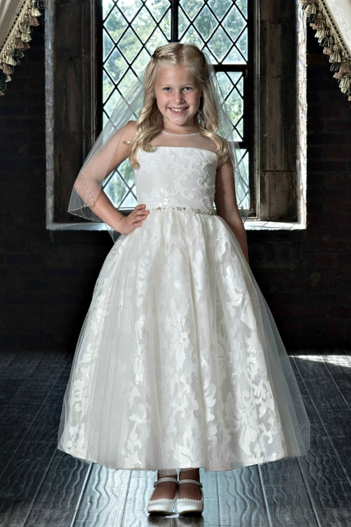 MD_1806 - Couture-Designer Girls Dress Style 1806 - Beaded Illusion ...