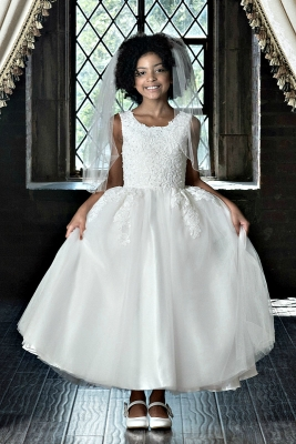 667533580dc Couture-Designer Girls Dress Style 1912 - Sleeveless Lace and Tulle Ball  Gown in Choice