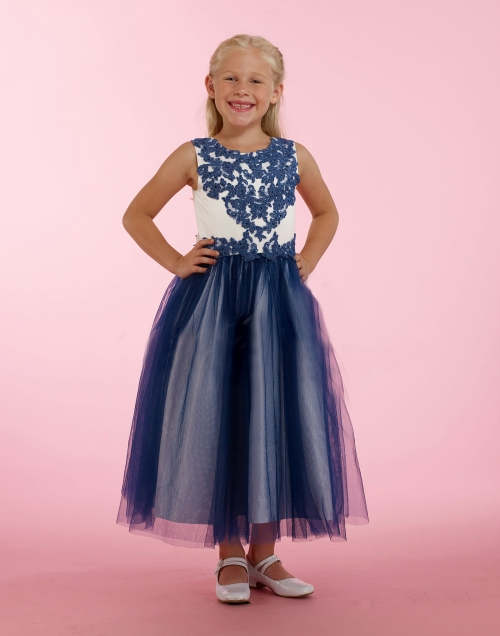 MD_T308 - Couture-Designer Girls Dress Style T308 - Satin and Tulle ...