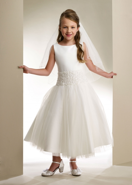 MD_T356W - Macis Couture-Designer Girls Dress Style T356- WHITE ...