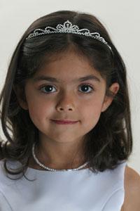 flower girl gold tiara: