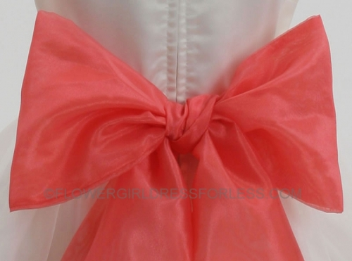 f05a13cb9dd71 ORGANZA_CO - Organza Sash-CORAL - Organza Sashes - Flower Girl Dresses - Flower  Girl Dress For Less