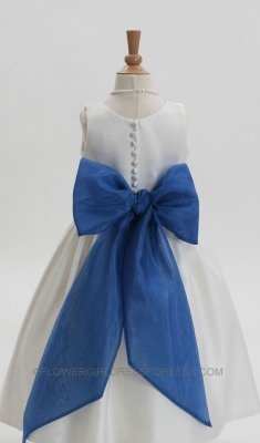16e5710ed SALE Us Angels Wide Organza Sash Style S-409 - HORIZON- ROYAL BLUE