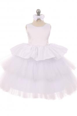 Sizes 2 toddler 4 toddler flower girl dresses flower girl girls dress style 029 sleeveless satin and layered tulle skirt dress in choice of color mightylinksfo Gallery