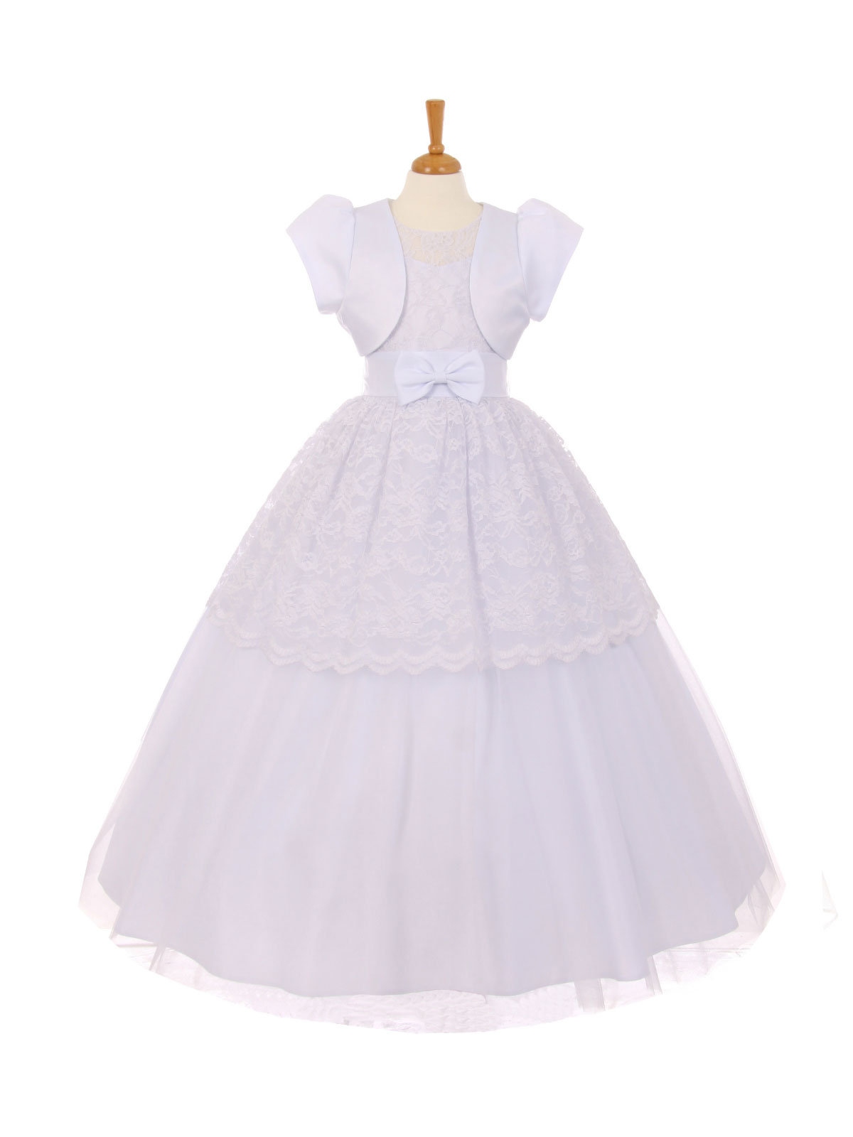 RK 2023 Girls Dress Style 2023 WHITE Lace Dress with