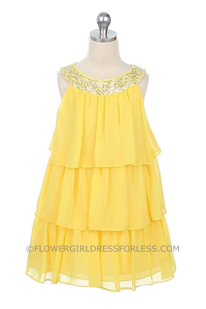 Girls Chiffon Dresses