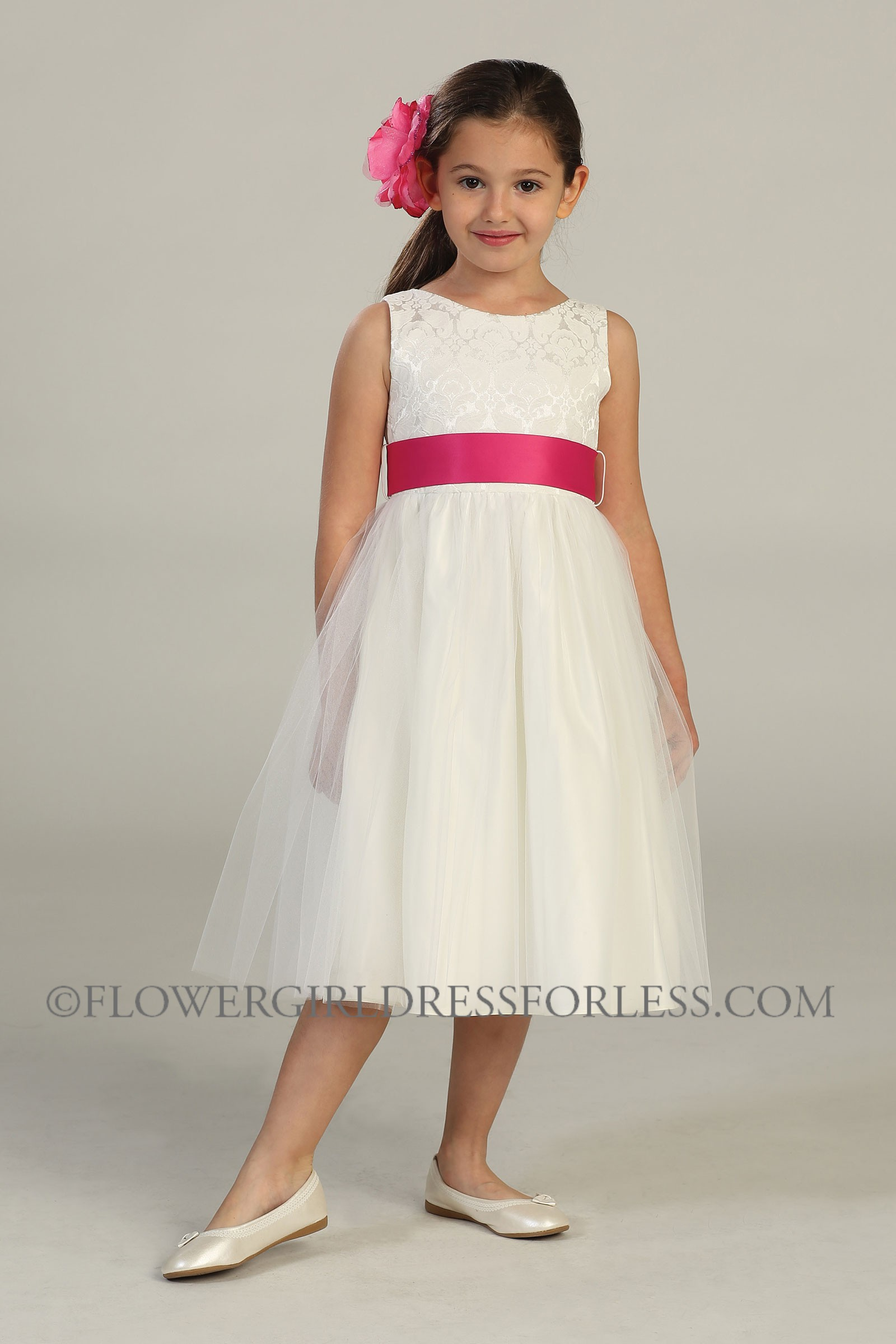And surfing along the out there only this off white flower girl dress