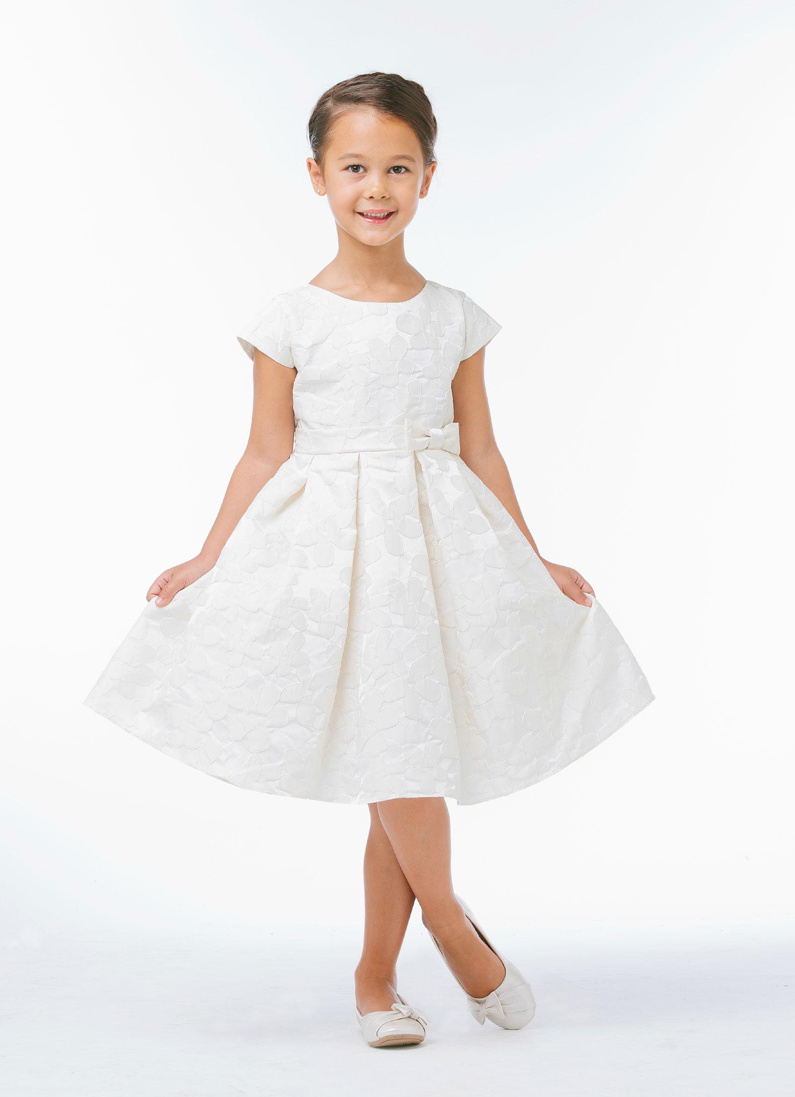 SK 625IV Girls Dress Style 625 Cap Sleeve Daisy Inspired Dress in Choice