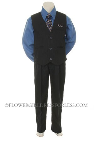 Sn 7000rybl Boys Vest Set Style 7000 Royal Blue Shirt