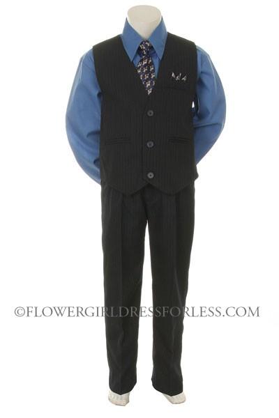 Black Vest With Blue Shirt