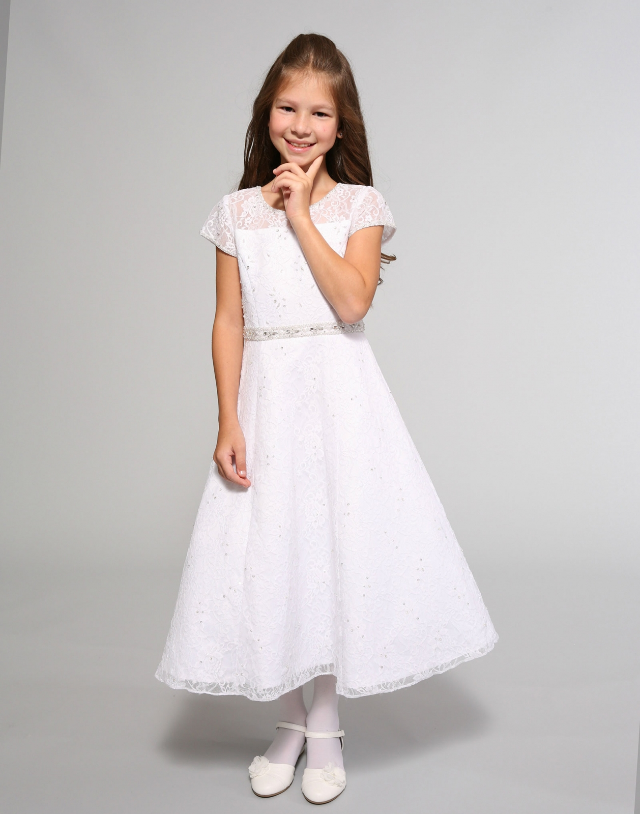 Sp3025 Sweetie Pie Collection Style 3025 White Short Sleeve
